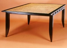 Cane Top Wooden Dining Table