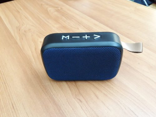 Blue Rectangular Bluetoooth Speaker