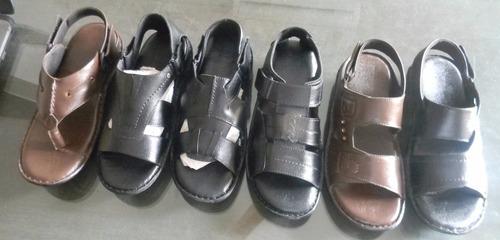 Men Brown Leather Sandals