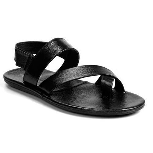 Molessi Mens Leather Black Sandals