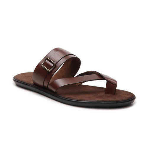 Casual Wear Brown Mens Leather Sandal