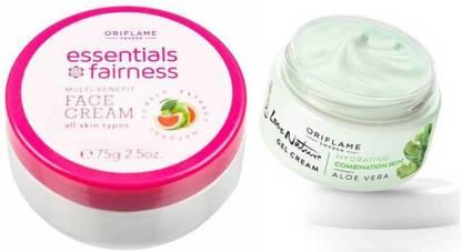 Oriflame Sweden Essential Fariness Face Cream & Love Nature Aloe Vera Gel Combo