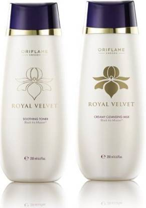 Oriflame Sweden Royal Velvet Soothing Toner and Cleansing Milk Combo
