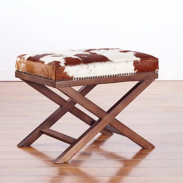 geniune leather ottomans