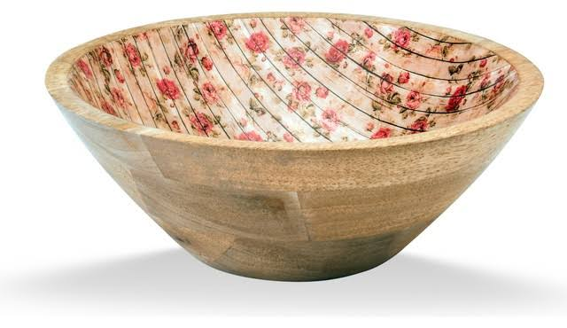 Wooden and Enamel Bowls