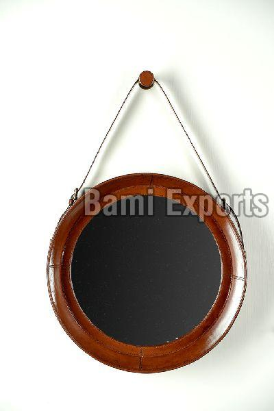 leather covered mirrors (BELM03)