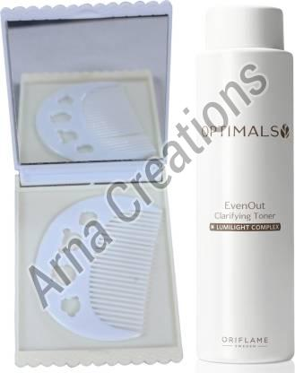 Oriflame Sweden Optimals Even Out Luminizing Toner with Comb Mirror Combo