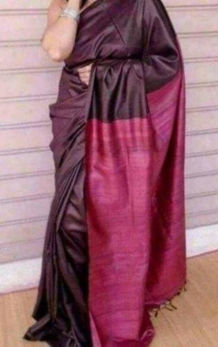 Handmade Tussar Silk Saree