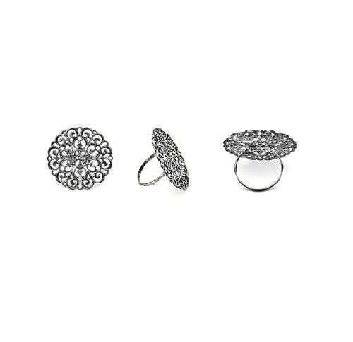 Silver Brass Napkin Ring