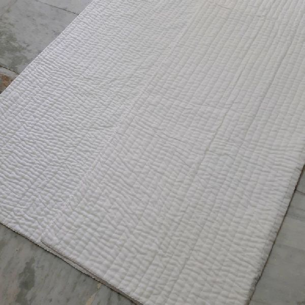 Indian White Color Quilt vintage quilt Handmade Quilt king size