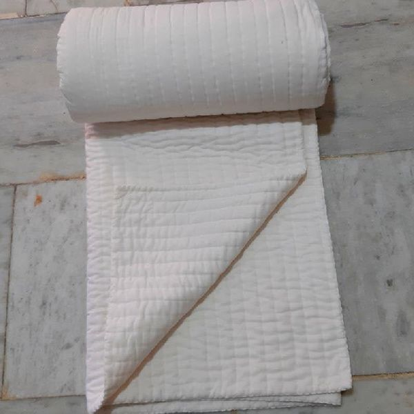 Indian White Color Quilt vintage quilt Handmade Quilt king size (101white)