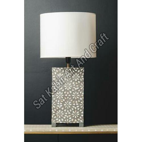 Mother of Pearl Inlay Table Lamp