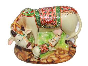 Hand Carved Marble Cow