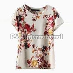 Teenage Girls Knitted Round Neck T-Shirts