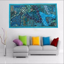 embroidered tapestry wall hanging Wall Hanging Tapestry Vintage Decor