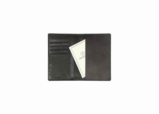 Black color genuine leather Passport case