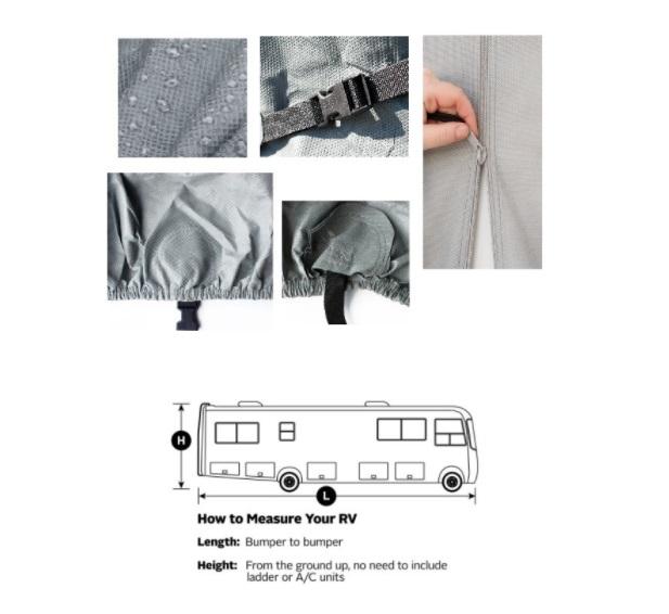 Waterproof Non-Woven Fabric Class A RV/Camper Cover