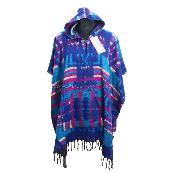 Acrylic Mexican Poncho Sweater