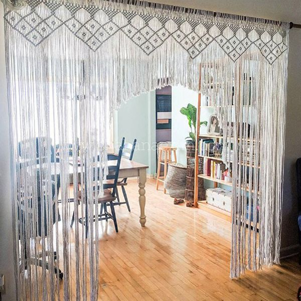 Cotton Macrame Curtains Manufacturer in Delhi India by
