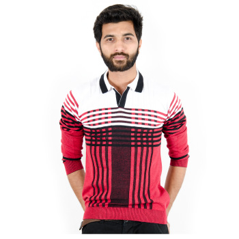Cotton Knitted Patterns Fashion Pullover for Men