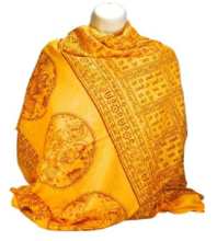 Buy Gayatri Mantra Shiva Mantra Printed Shawl from Shivam