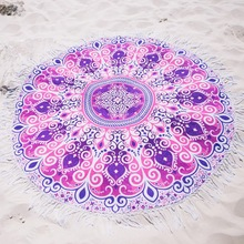 cotton printed round beach towel