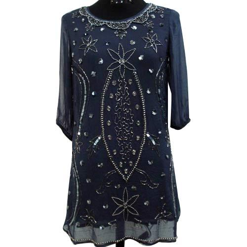 Embrodied Kurti With Long Sleeves