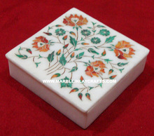 White Marble Inlay Jewellery Box, Corporate Gifts
