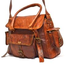 handmade vintage genuine leather video camera bag