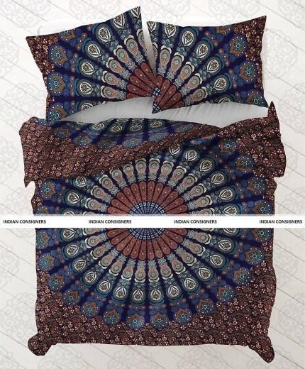 Navya Creations Cotton Indian Duvet Doona Cover Boho Hippie Quilt Comforter Bedding Pillow