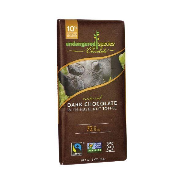 DARK CHOCOLATE WITH HAZELNUT TOFFEE