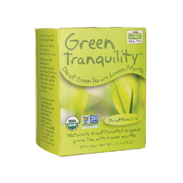 GREEN TRANQUILITY DECAF GREEN TEA WITH LEMON MYRTLE