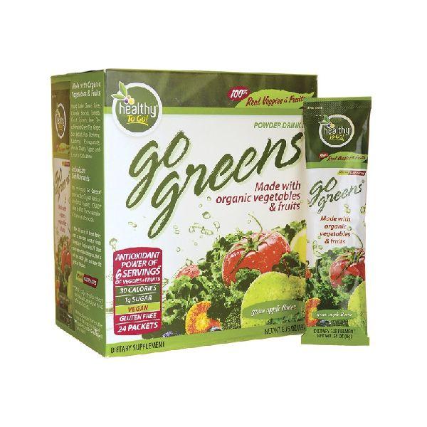 GREENS POWDER DRINK MIX GREEN APPLE FLAVOR