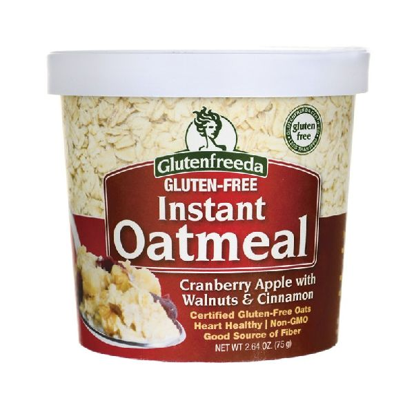 INSTANT OATMEAL CRANBERRY APPLE WITH WALNUTS & CINNAMON