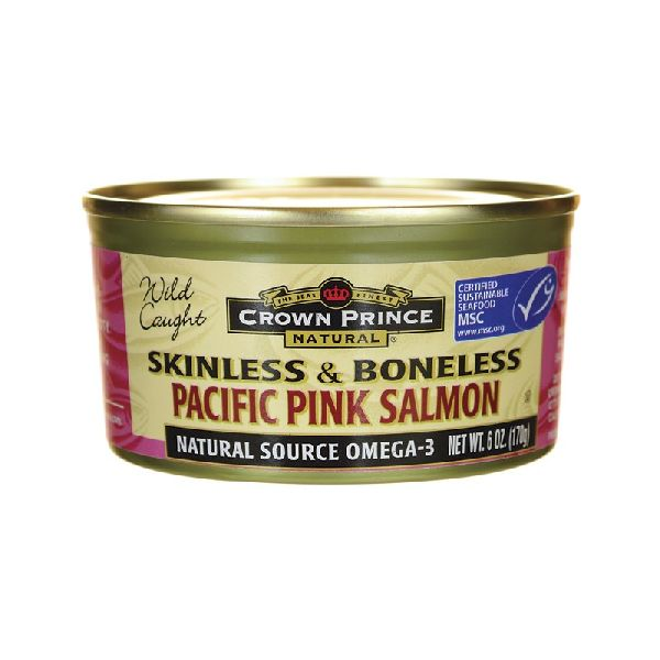 WILD CAUGHT PACIFIC PINK SALMON SKINLESS & BONELESS