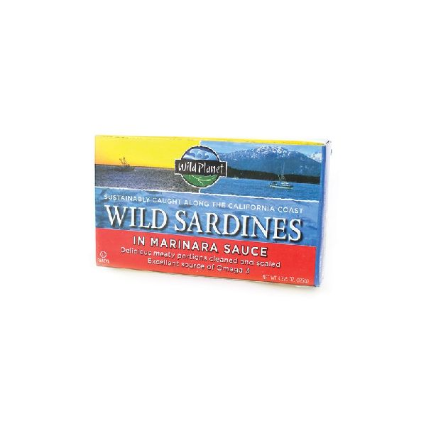 WILD SARDINES IN MARINARA SAUCE, 1 CAN