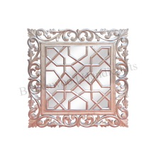Wooden Handmade Hand Carved Wall Hanging Mirror