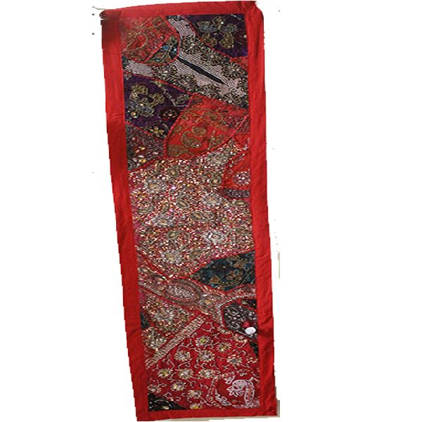 Indian Embroidered Wall Hanging Multi Color Designer Cotton Table Runner