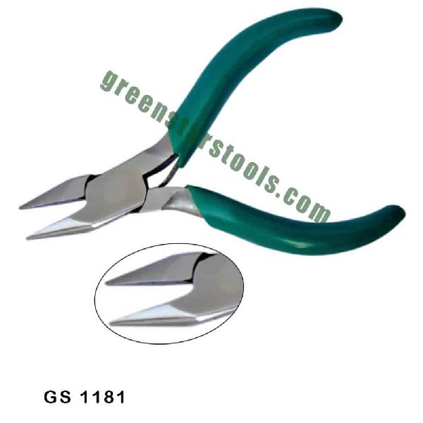 MINI CHAIN NOSE PLIERS STAINLESS STEEL