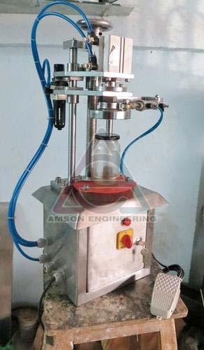 Semi Automatic Pneumatic Lug Capping Machine
