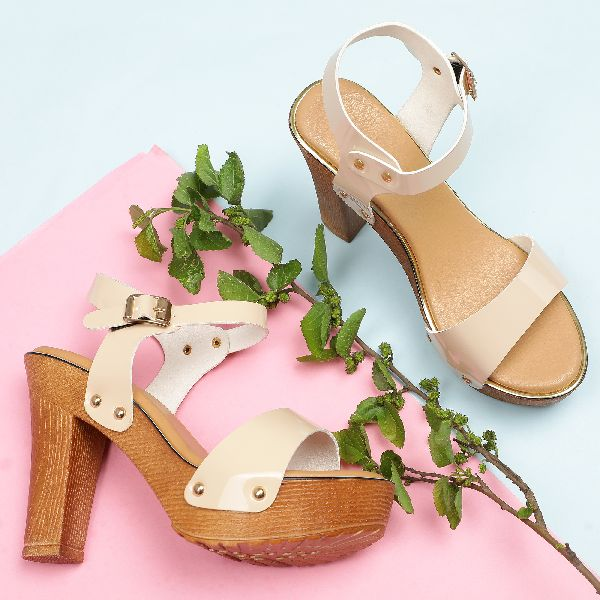 Buy Apricot Block Heel Sandals from