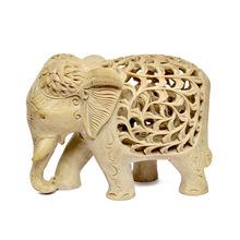 Elephant Undercut Carving Statue
