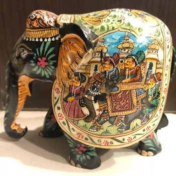 Antique Painted Camel Bone And Wooden Elephant Manufacturer In Vadodara Id 4828553