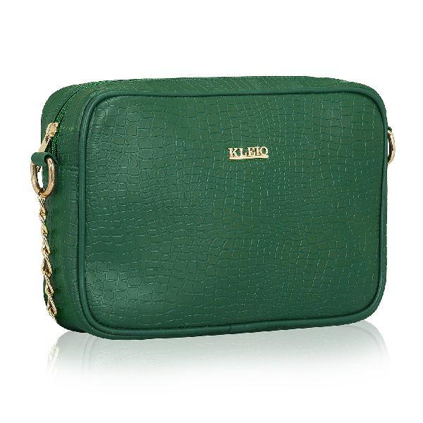KLEIO Stylish Croco Spacious Cross Body Side Sling Handbag