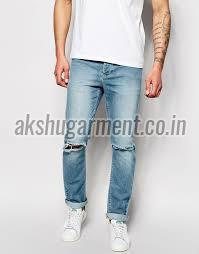 Mens Knee Ripped Jeans