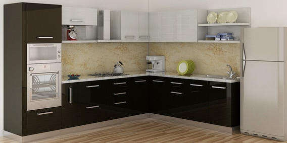 L Shaped Modular Kitchen Manufacturer in Delhi India by ...