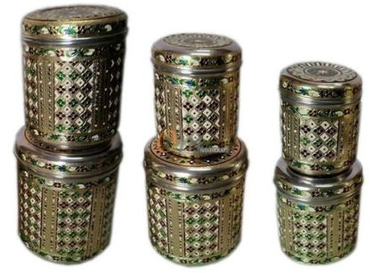 Handicraft Meenakari Steel Box