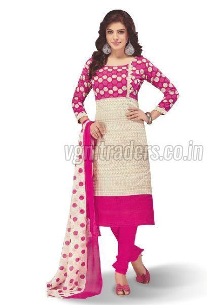 Cotton Unstitched Churidar Suit