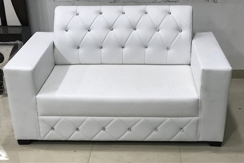 Enjoyable White Two Seater Rexine Sofa Manufacturer In Rajasthan India Machost Co Dining Chair Design Ideas Machostcouk