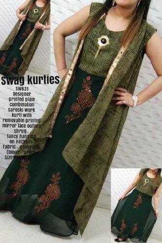 Ladies Fancy Silk Kurti